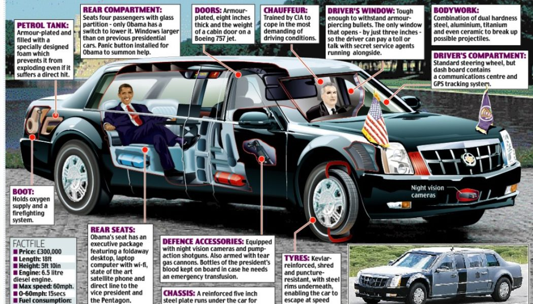Inside Cadillac One: the Obama-Mobile. Will The Big 'O' Run Biodiesel?