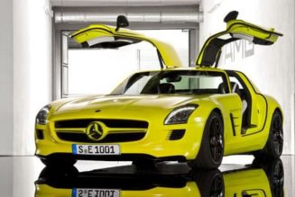 2014 Mercedes SLS AMG E-Cell Caught Testing, Coming Soon
