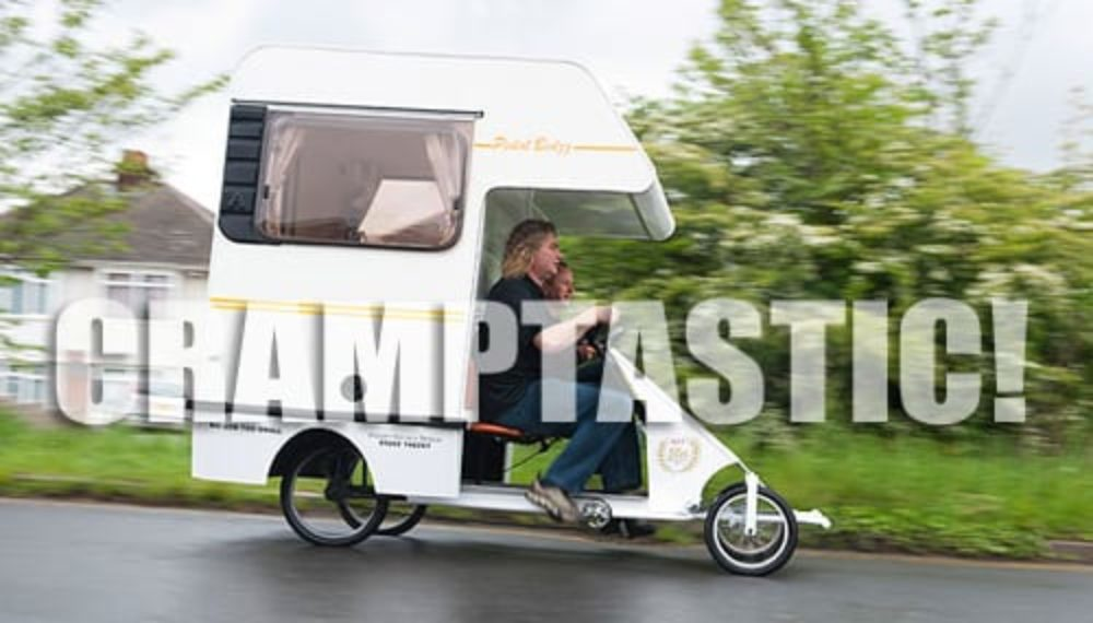 EPIC DIY WIN!  World's Smallest Camper – All Hail the Cramper!