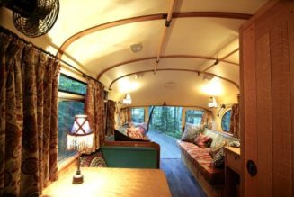 Recycled Hawtness: '59 Chevy Bus Both A Camper And Guest House