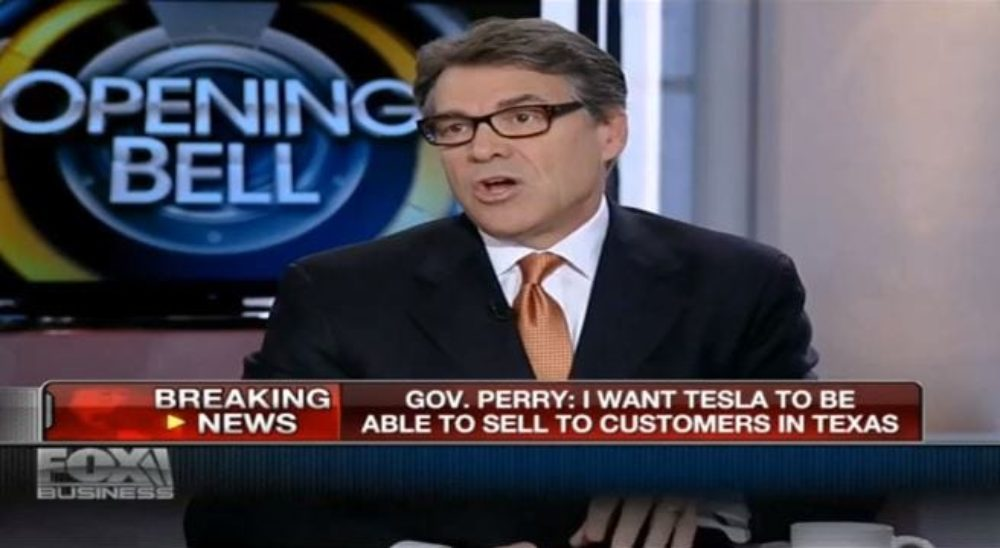 Governor Rick Perry Sides With Tesla and the Gigafactory