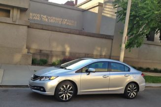 2014 Honda Civic is FLLW's Unity Temple, in Car Form