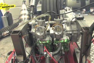 Maxiscoot Builds Insane, MXS 90 VTwin Scooter Engine (video)