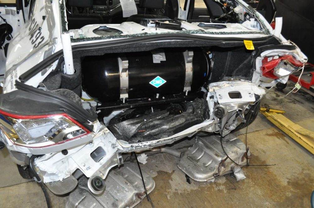 GM Shoots Chevy Impala CNG Fuel Tank To Prove Point
