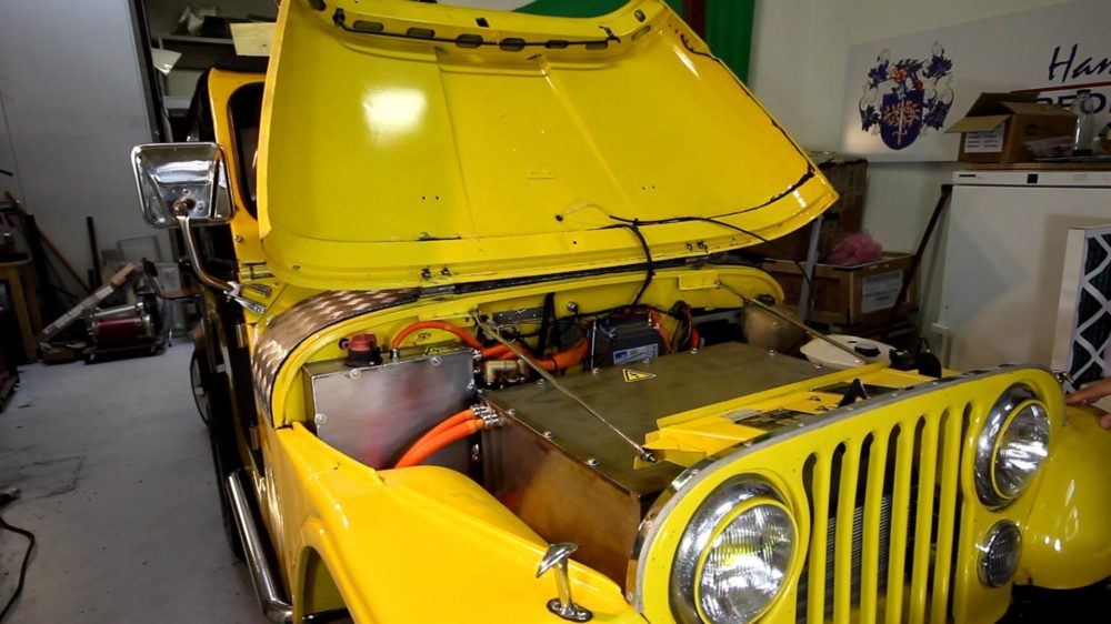 Classic Jeep CJ5 Converted To Electric