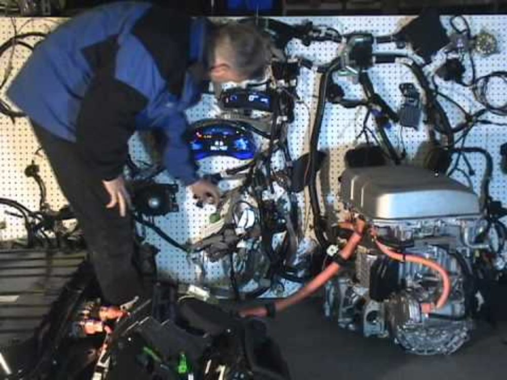 Nissan LEAF Dissected, Pinned To Pegboard, Still Runs!