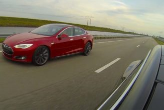 Tesla Model S P85D VS. P85+ Drag Race