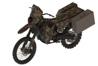 SilentHawk Two Wheel Drive Hybrid Electric Motorcycle From DARPA