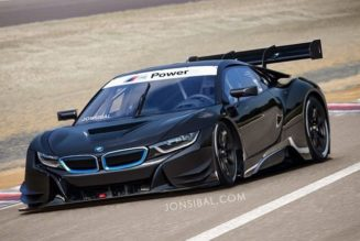 BMW i8 Gets Race Car Rendering