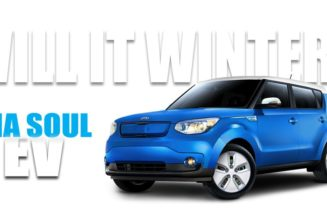 2015 kia soul ev winter car