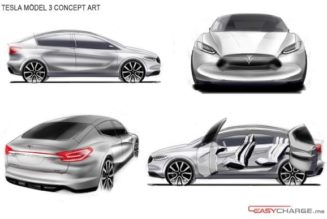 Tesla Model III Rendered As A Crossover With Suicide Doors