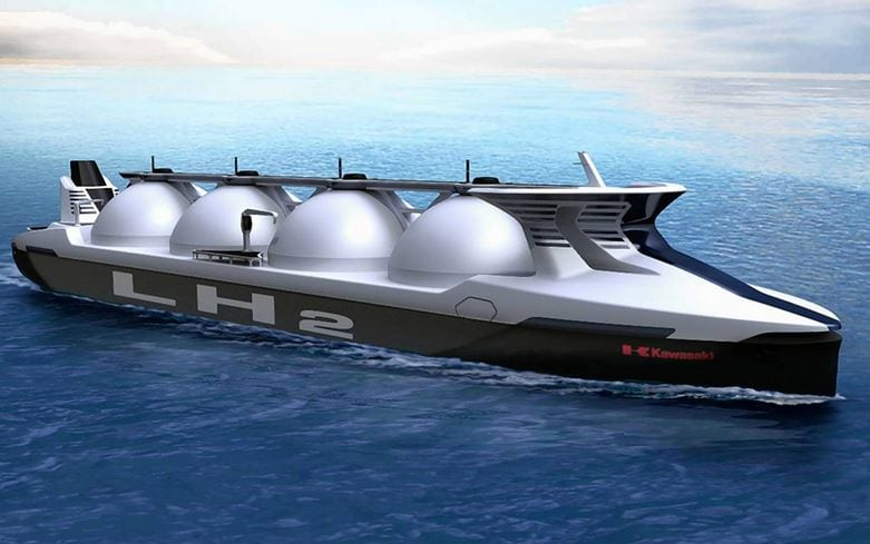 Hydrogen society will require new ocean tankers