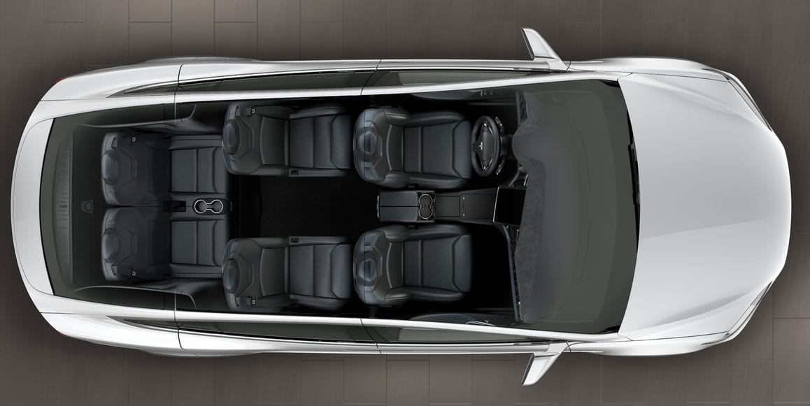 Tesla Model X now comes with 6 passenger seating option