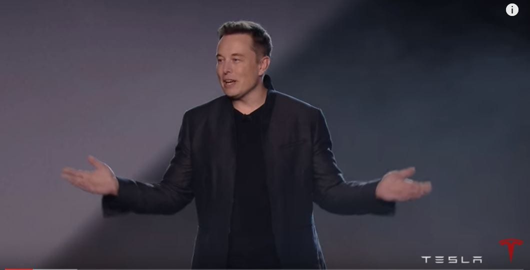 Elon Musk at Model 3 Unveiling