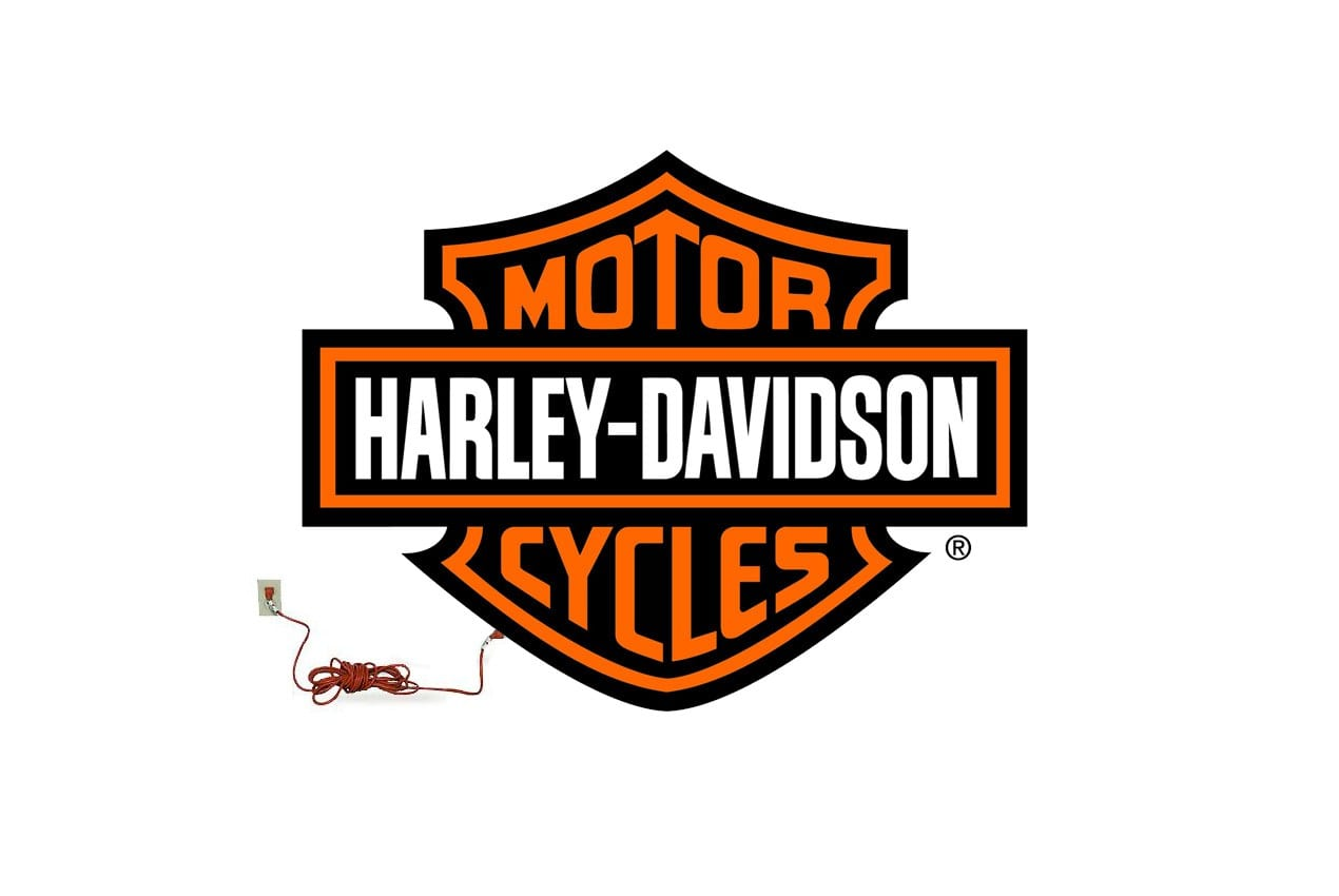 Harley Davidson electric motorcycle logo