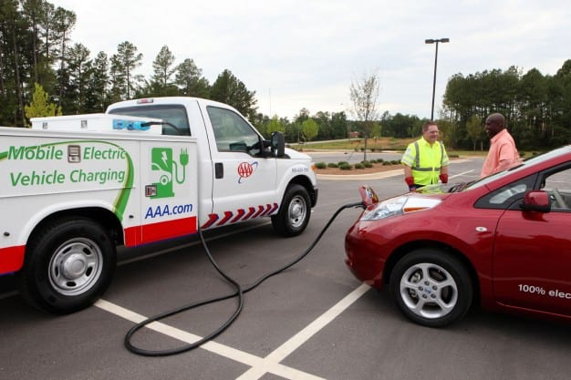 AAA charging truck for electric car