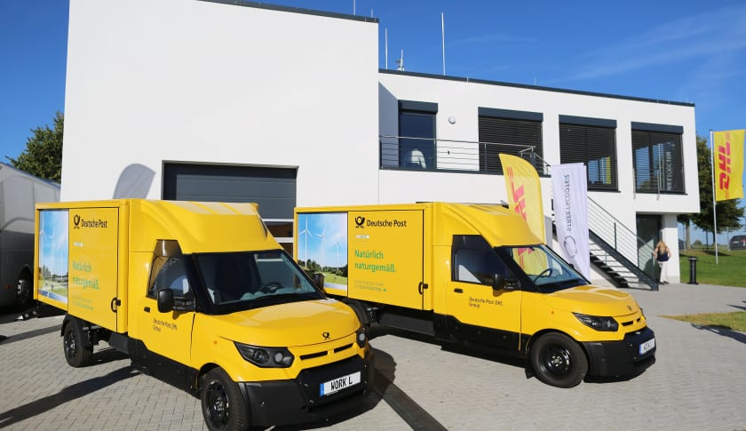 DHL electric delivery van