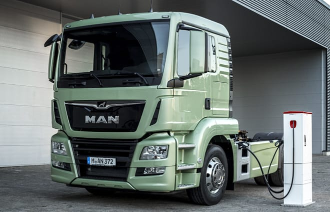 MAN electric semi truck