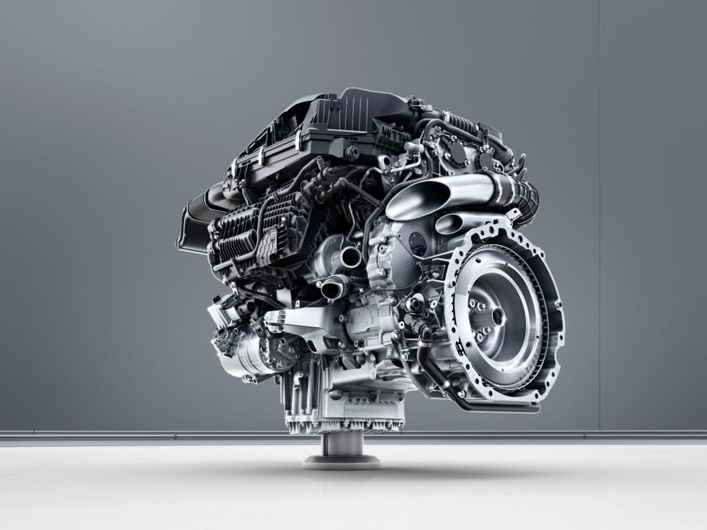 Mercedes with compound turbocharging