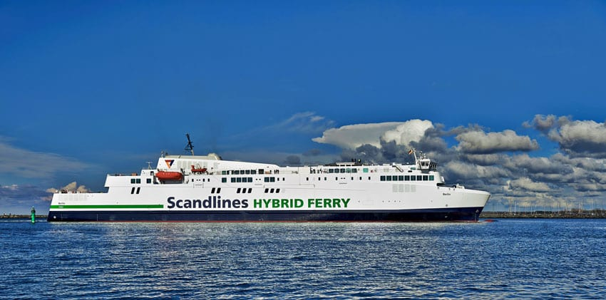 Scanlines hybrid ferry with Corvus battery power