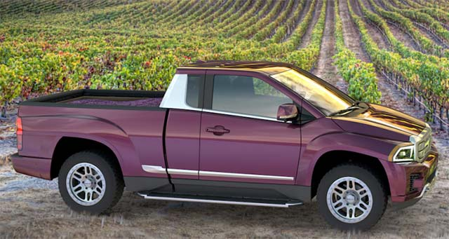 Bison electric pickup truck