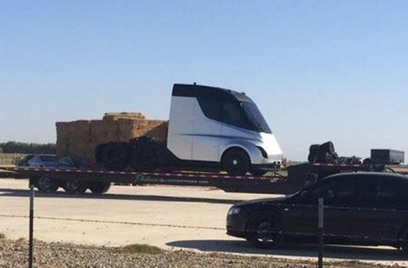 Tesla Semi Spy Shot