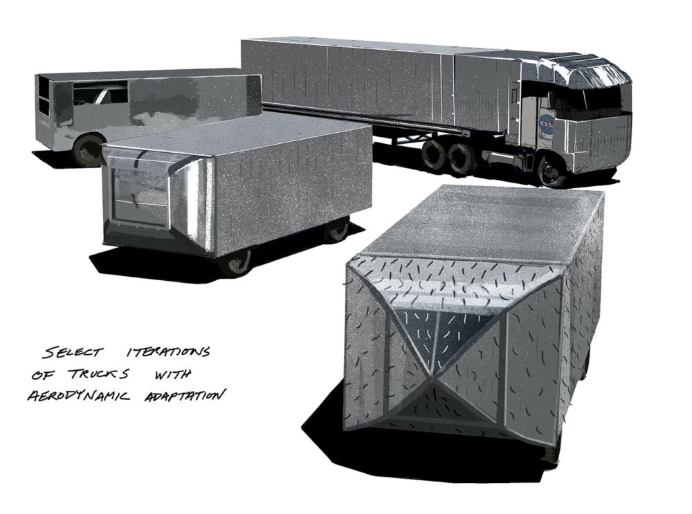 Old School Cool:  NASA Aerodynamic Truck Studies