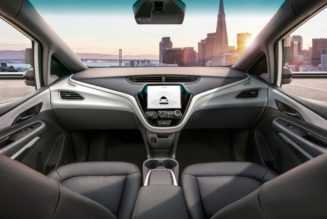 Autonomous Chevy Bolt AV Shown Without Steering Wheel
