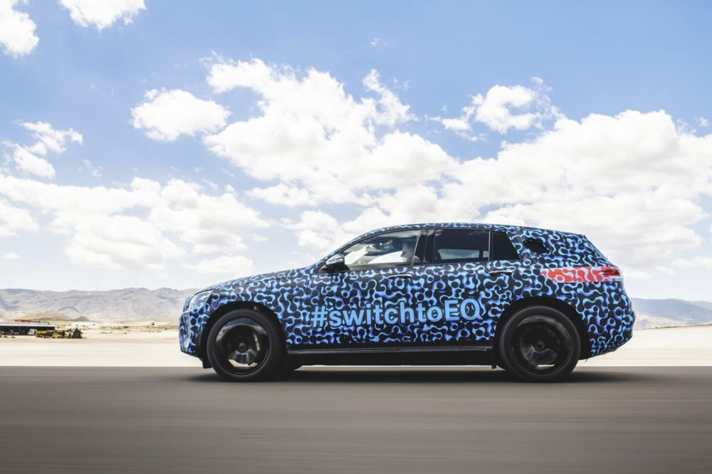 Electric Mercedes SUV Testing in Spain