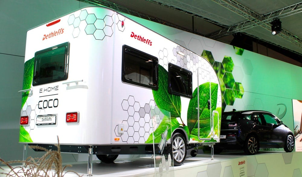 Dethleffs New Self-propelled Electric Camper Wows in Düsseldorf