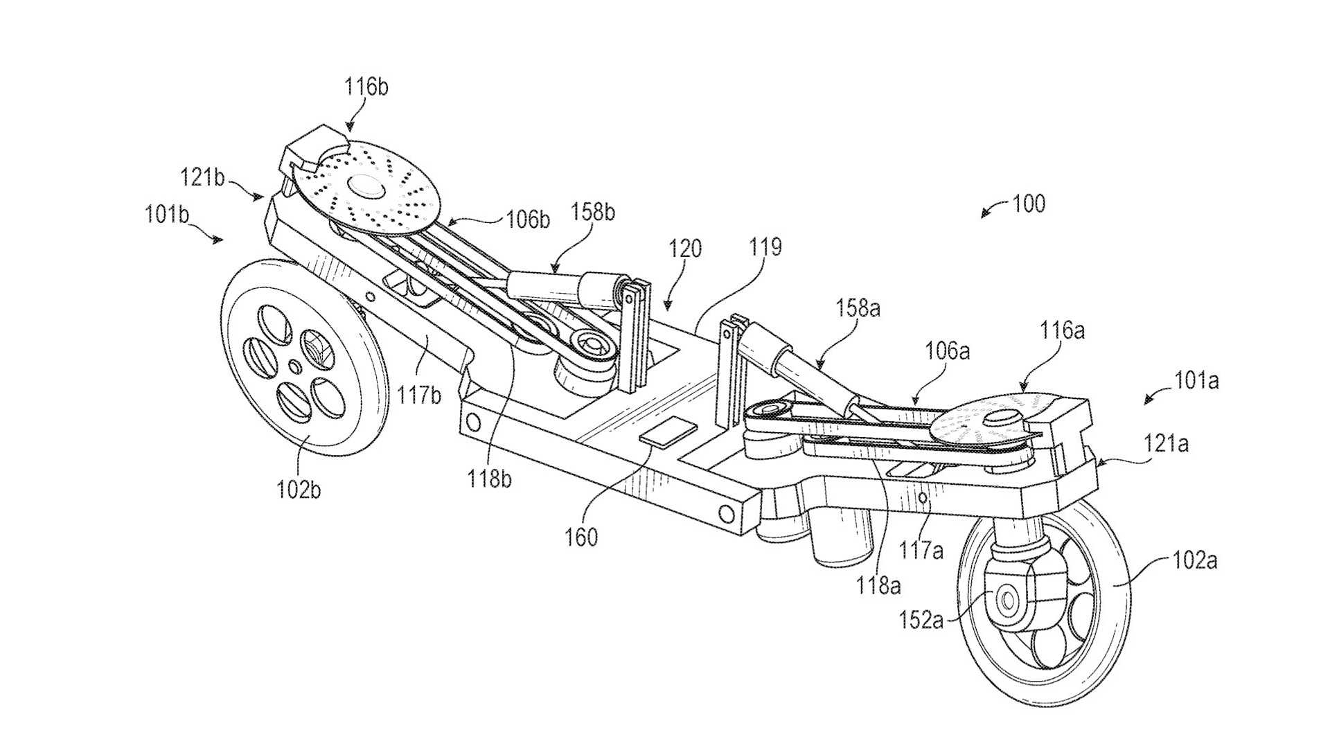 Facebook Files Patent for Self-balancing Electric Motorcycle