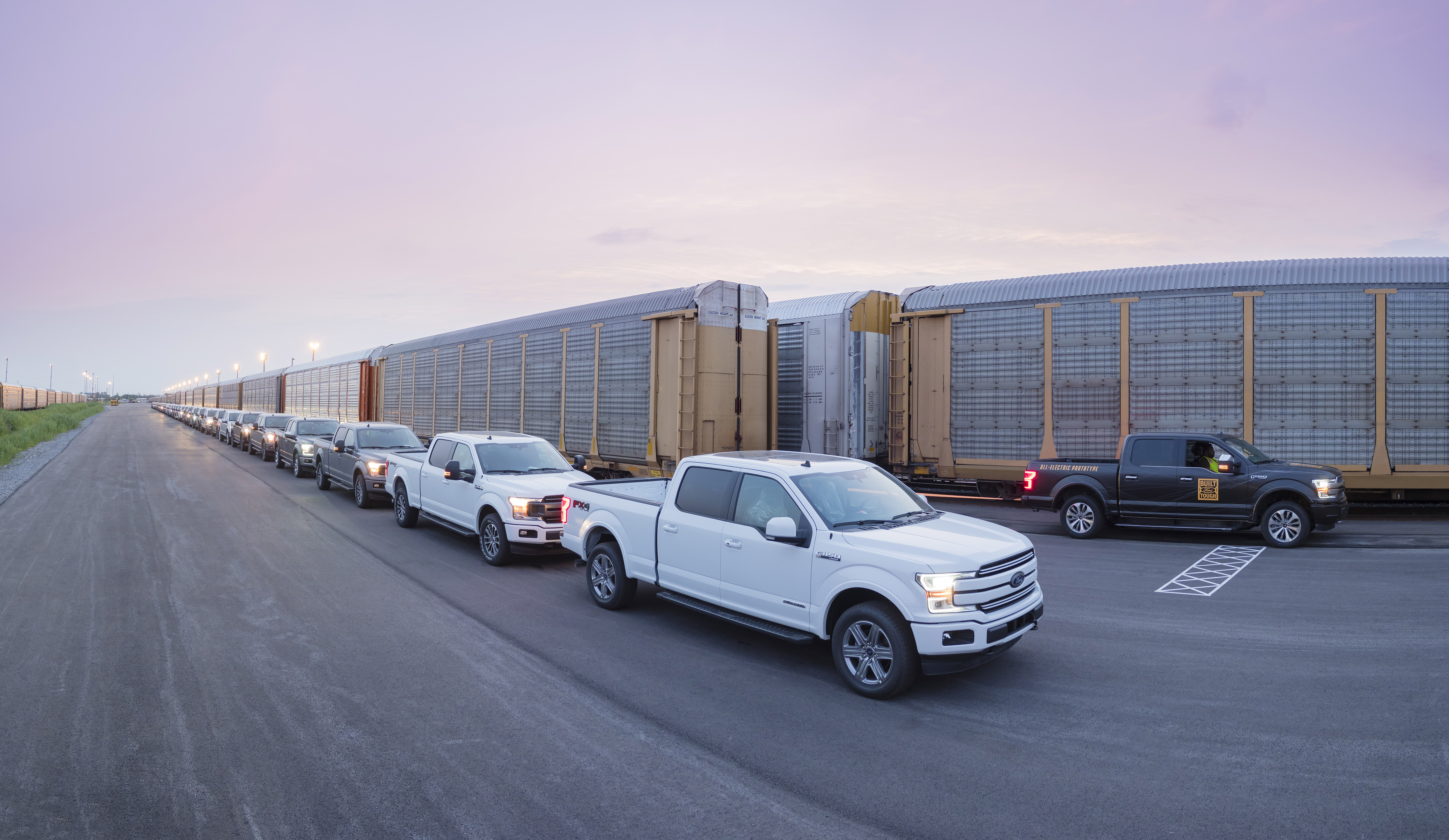 Watch Ford's Electric Truck Pull 1 Million Pounds
