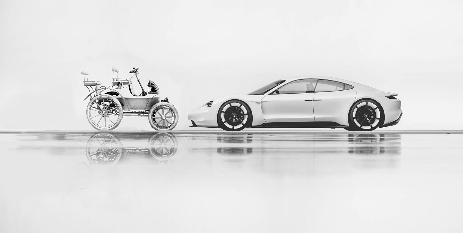 2020 Porsche Taycan Meets an Electric Porsche from 1898