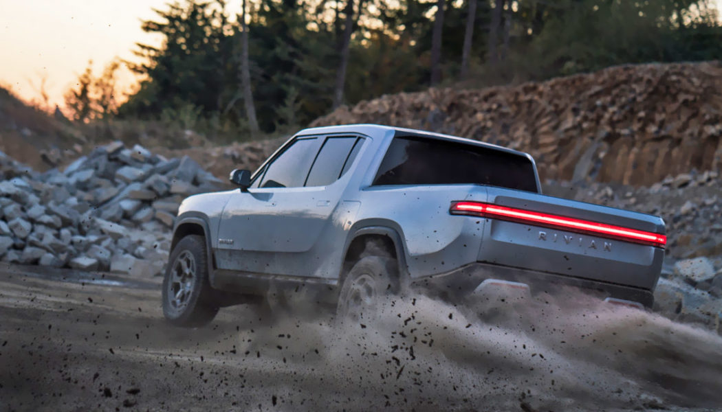 Watch this Rivian Electric Truck Pull a Tank Turn