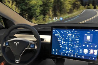 Tesla Model 3 with Heads Up Display (HUD) Installed